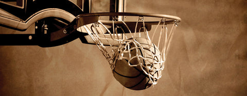 Basketball Going Through the Net