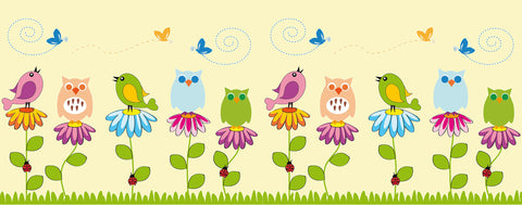 Birds-Cute Flowers and Birds