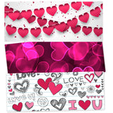 Pink Hearts 3 Piece HeadLight Image Value Pack