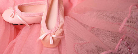 Ballet Slippers on Pink Tutu