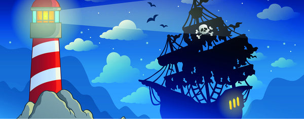 Pirate Ship and Lighthouse