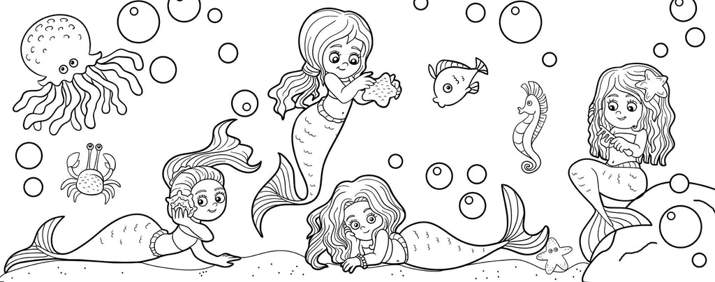 Mermaid Coloring Page Lightheaded Beds