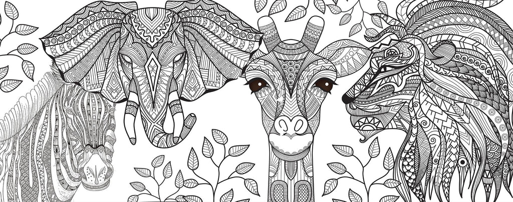 safari coloring page lightheaded beds - Safari Coloring Pages