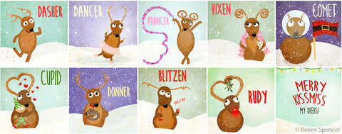 Reindeer Collage