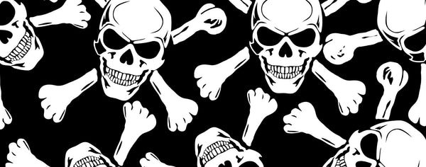 Vector Evil Skulls with Cross Bones