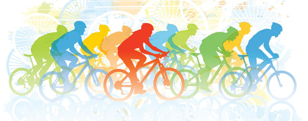 Colorful Bike Race
