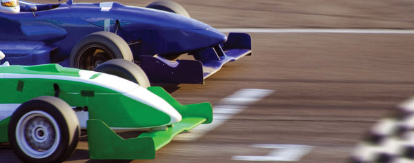 Cars-Blue and Green Race Cars
