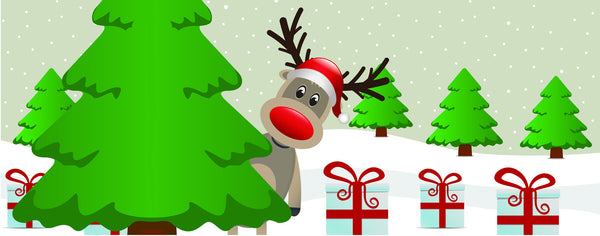 Christmas-Peek A Boo With Rudolph