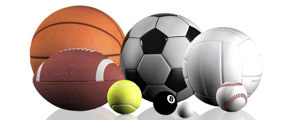 Sports Balls On White Background LightHeaded Beds
