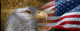 Fourth of July Bald- Eagle with Constitution