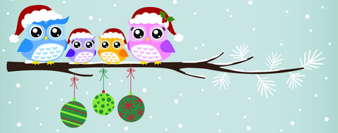 Christmas Owl Family