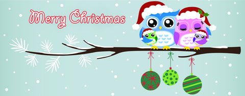 Merry Christmas Owls