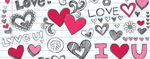 Valentine's Day-I Love You Doodles