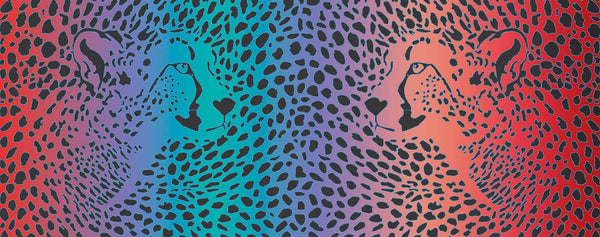 Spotty Leopards (Pink, purple, turquoise, and peach)