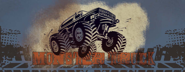 Monster Truck Grunge Graphic