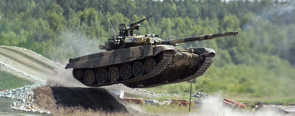 Military-Jumping T-90 Tank