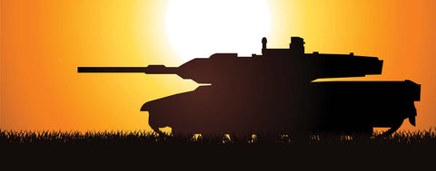 Silhouetted Tank