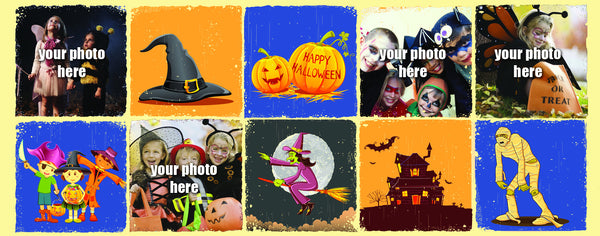 Personalized Colorful Halloween Photo Collage