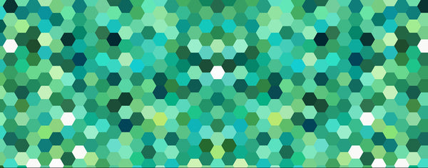 Green and Blue Hexagon Pattern