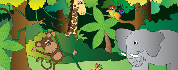 Safari-Happy Jungle Animals