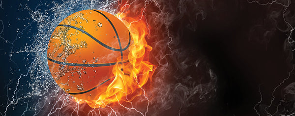 Basketball on Fire and Water