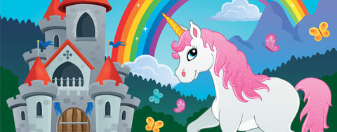 Fairytale Castle and Unicorn