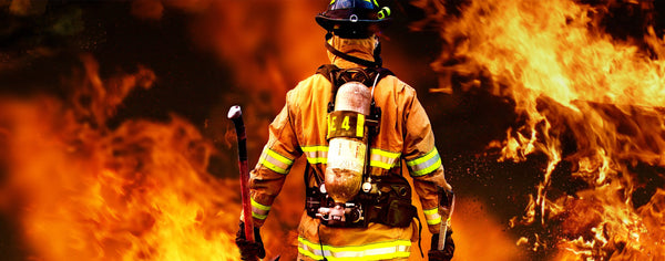 Firefighter Searching for Survivors