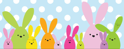 Easter-Colorful Bunnies