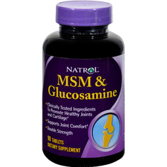 Natrol Msm And Glucosamine Double Strength - 90 Tablets