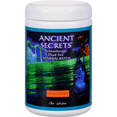 Ancient Secrets Aromatherapy Dead Sea Mineral Baths Unscented - 2 Lbs