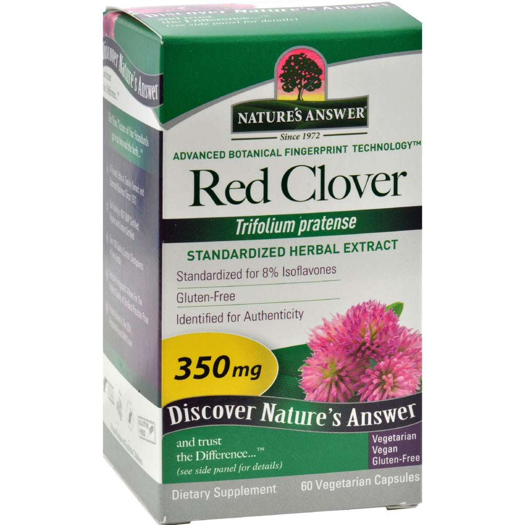 Nature's Answer Red Clover Tops Extract - 60 Vegetarian Capsules