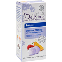 Bellybar Prenatal Chewable Vitamin Mixed Fruit - 60 Chewable Tablets