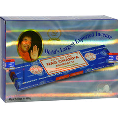 Sai Baba Nag Champa Agarbatti Incense - 40 G - Case Of 12