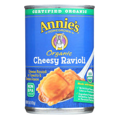 Annie's Homegrown Organic Cheesy Ravioli In Tomato And Cheese Sauce - Case Of 12 - 15 Oz.