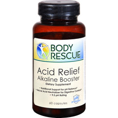 Peelu Body Rescue Acid Relief Alkaline Booster - 60 Capsules