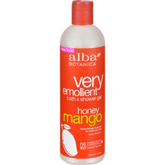 Alba Botanica Very Emollient Bath And Shower Gel Honey Mango - 12 Fl Oz