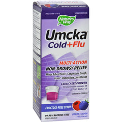 Nature's Way Umcka Cold And Flu Sugar-free Syrup Berry - 4 Fl Oz