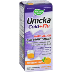 Nature's Way Umcka Cold And Flu Sugar-free Syrup Orange - 4 Fl Oz