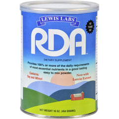 Lewis Lab Rda - Vitamin Mineral Protein Powder - 16 Oz