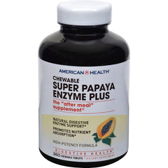 American Health Super Papaya Enzyme Plus Chewable - 360 Chewable Tablets