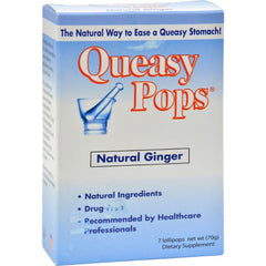 Three Lollies Queasy Pops Ginger - 7 Pops