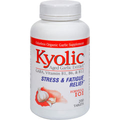 Kyolic Aged Garlic Extract Stress And Fatigue Relief Formula 101 - 200 Tablets