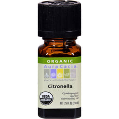 Aura Cacia Organic Essential Oil - Citronella - .25 Oz