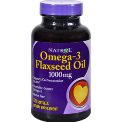 Natrol Flax Seed Oil - 1000 Mg - 120 Softgels