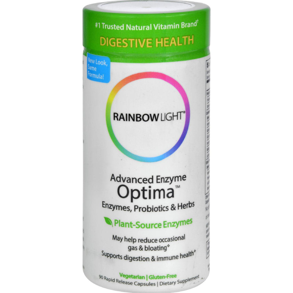 Rainbow Light Advanced Enzyme Optima - 90 Vegetarian Capsules
