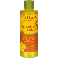 Alba Botanica Hawaiian Body Oil Kukui Nut - 8.5 Fl Oz
