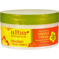 Alba Botanica Hawaiian Spa Body Cream Papaya Mango - 6.5 Oz