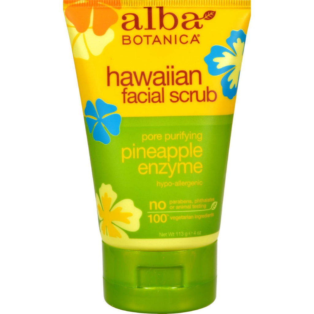 Alba Botanica Hawaiian Pineapple Enzyme Facial Scrub - 4 Fl Oz