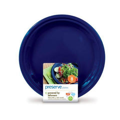 Preserve On The Go Large Plates - Midnight Blue - Case Of 12 - 8 Pack - 10.5 In