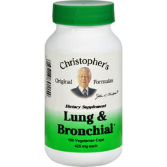 Dr. Christopher's Lung And Bronchial - 450 Mg - 100 Vegetarian Capsules